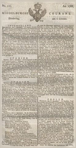 Middelburgsche Courant 1768-10-06