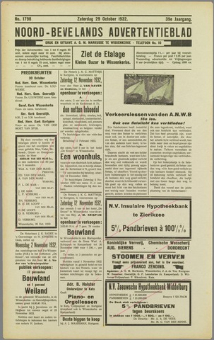 Noord-Bevelands Nieuws- en advertentieblad 1932-10-29