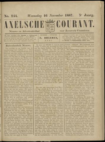 Axelsche Courant 1887-11-16