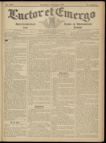 Luctor et Emergo. Antirevolutionair nieuws- en advertentieblad voor Zeeland / Zeeuwsch-Vlaanderen. Orgaan ter verspreiding van de christelijke beginselen in Zeeuwsch-Vlaanderen 1915-11-06