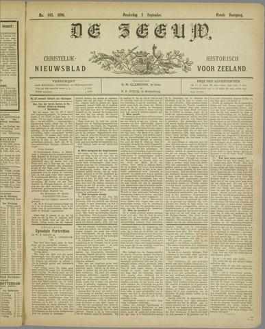 De Zeeuw. Christelijk-historisch nieuwsblad voor Zeeland 1896-09-03