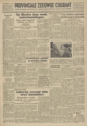 Provinciale Zeeuwse Courant 1949-01-13