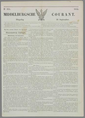 Middelburgsche Courant 1854-09-26