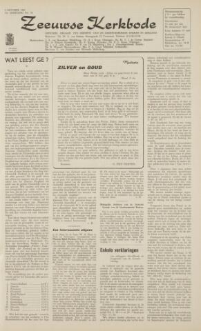 Zeeuwsche kerkbode, weekblad gewijd aan de belangen der gereformeerde kerken/ Zeeuwsch kerkblad 1962-10-05