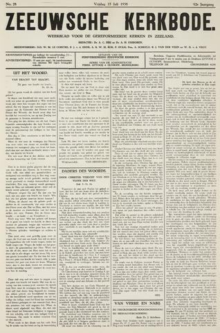 Zeeuwsche kerkbode, weekblad gewijd aan de belangen der gereformeerde kerken/ Zeeuwsch kerkblad 1938-07-15