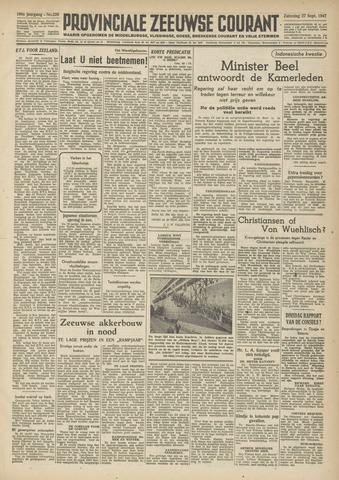 Provinciale Zeeuwse Courant 1947-09-27