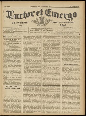 Luctor et Emergo. Antirevolutionair nieuws- en advertentieblad voor Zeeland / Zeeuwsch-Vlaanderen. Orgaan ter verspreiding van de christelijke beginselen in Zeeuwsch-Vlaanderen 1912-11-20