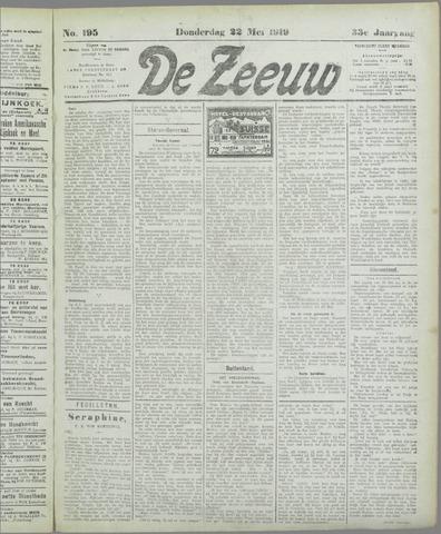 De Zeeuw. Christelijk-historisch nieuwsblad voor Zeeland 1919-05-22