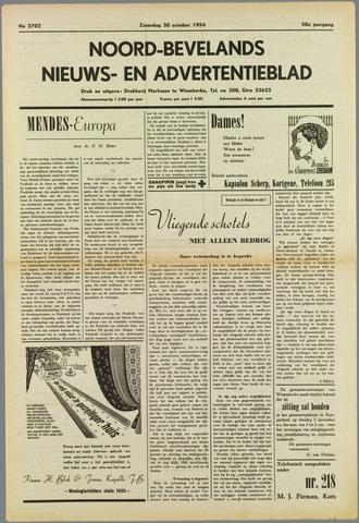 Noord-Bevelands Nieuws- en advertentieblad 1954-10-30