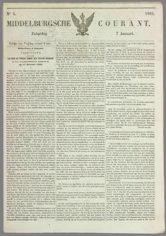 Middelburgsche Courant 1865-01-07