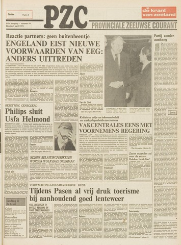 Provinciale Zeeuwse Courant 1974-04-02