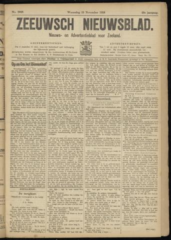 Ter Neuzensch Volksblad. Vrijzinnig nieuws- en advertentieblad voor Zeeuwsch- Vlaanderen / Zeeuwsch Nieuwsblad. Nieuws- en advertentieblad voor Zeeland 1918-11-13