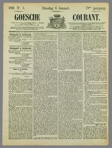 Goessche Courant 1891-01-06