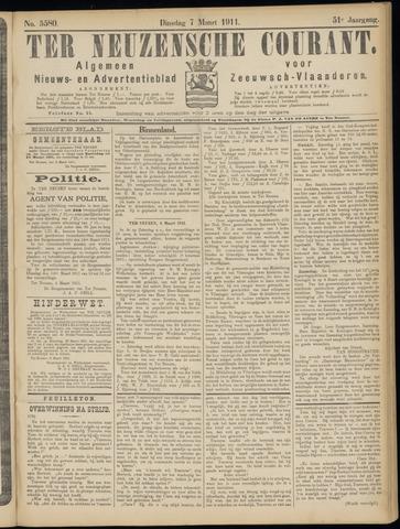 Ter Neuzensche Courant. Algemeen Nieuws- en Advertentieblad voor Zeeuwsch-Vlaanderen / Neuzensche Courant ... (idem) / (Algemeen) nieuws en advertentieblad voor Zeeuwsch-Vlaanderen 1911-03-07