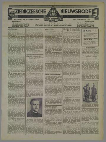 Zierikzeesche Nieuwsbode 1940-11-25