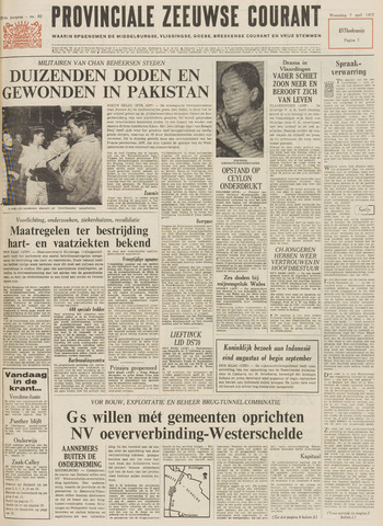 Provinciale Zeeuwse Courant 1971-04-07