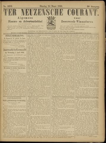 Ter Neuzensche Courant. Algemeen Nieuws- en Advertentieblad voor Zeeuwsch-Vlaanderen / Neuzensche Courant ... (idem) / (Algemeen) nieuws en advertentieblad voor Zeeuwsch-Vlaanderen 1896-03-24