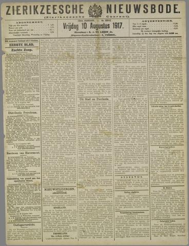 Zierikzeesche Nieuwsbode 1917-08-10