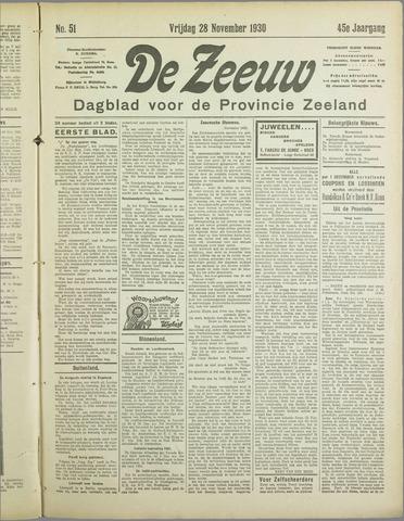 De Zeeuw. Christelijk-historisch nieuwsblad voor Zeeland 1930-11-28