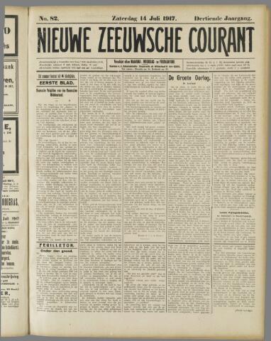 Nieuwe Zeeuwsche Courant 1917-07-14