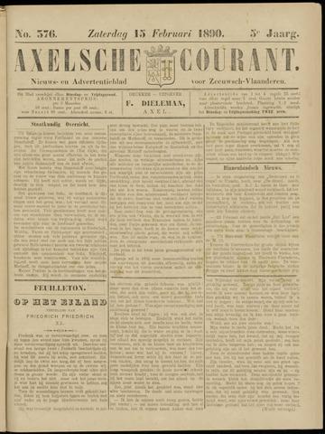 Axelsche Courant 1890-02-15