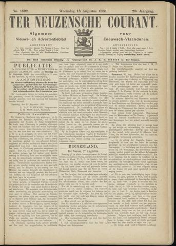 Ter Neuzensche Courant. Algemeen Nieuws- en Advertentieblad voor Zeeuwsch-Vlaanderen / Neuzensche Courant ... (idem) / (Algemeen) nieuws en advertentieblad voor Zeeuwsch-Vlaanderen 1880-08-18