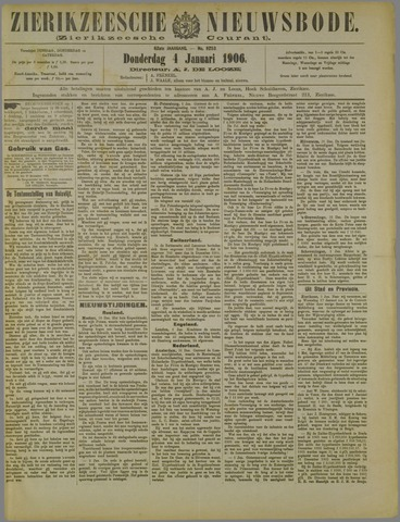 Zierikzeesche Nieuwsbode 1906-01-04
