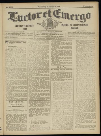 Luctor et Emergo. Antirevolutionair nieuws- en advertentieblad voor Zeeland / Zeeuwsch-Vlaanderen. Orgaan ter verspreiding van de christelijke beginselen in Zeeuwsch-Vlaanderen 1914-02-11