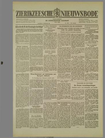 Zierikzeesche Nieuwsbode 1952-02-11