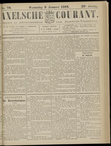 Axelsche Courant 1918-01-09
