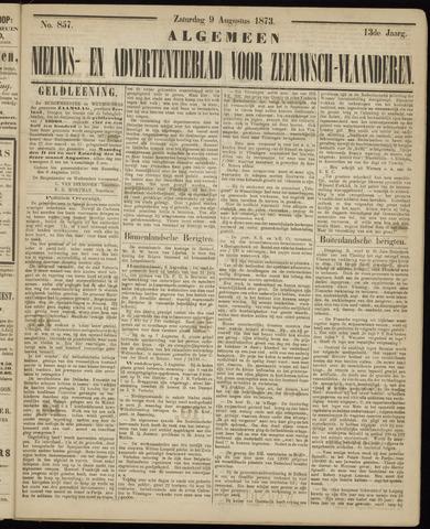 Ter Neuzensche Courant. Algemeen Nieuws- en Advertentieblad voor Zeeuwsch-Vlaanderen / Neuzensche Courant ... (idem) / (Algemeen) nieuws en advertentieblad voor Zeeuwsch-Vlaanderen 1873-08-09