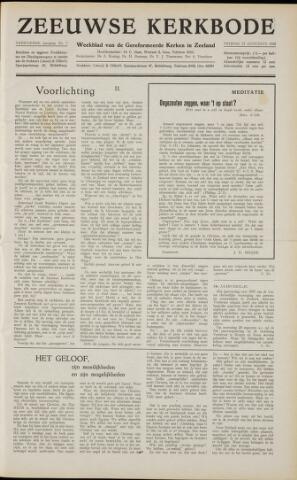 Zeeuwsche kerkbode, weekblad gewijd aan de belangen der gereformeerde kerken/ Zeeuwsch kerkblad 1958-08-15