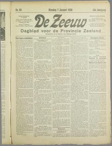 De Zeeuw. Christelijk-historisch nieuwsblad voor Zeeland 1930-01-07