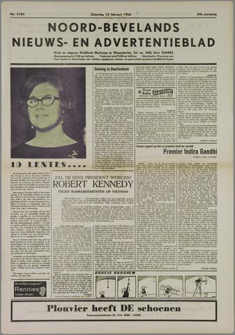 Noord-Bevelands Nieuws- en advertentieblad 1966-02-12