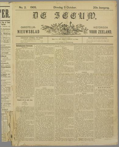 De Zeeuw. Christelijk-historisch nieuwsblad voor Zeeland 1905-10-03