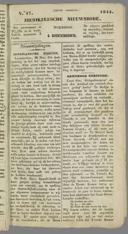 Zierikzeesche Nieuwsbode 1844-12-04