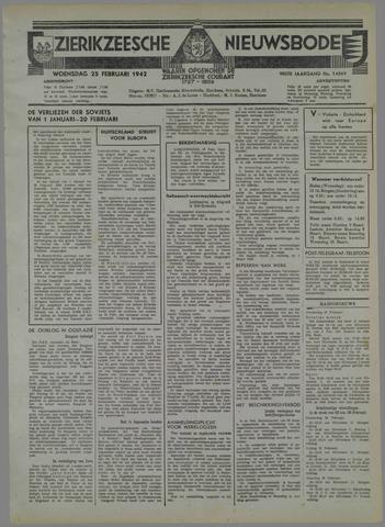 Zierikzeesche Nieuwsbode 1942-02-25