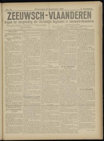 Luctor et Emergo. Antirevolutionair nieuws- en advertentieblad voor Zeeland / Zeeuwsch-Vlaanderen. Orgaan ter verspreiding van de christelijke beginselen in Zeeuwsch-Vlaanderen 1918-09-25