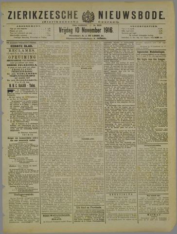 Zierikzeesche Nieuwsbode 1916-11-10