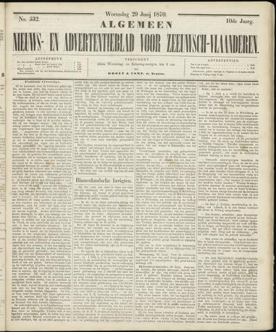 Ter Neuzensche Courant. Algemeen Nieuws- en Advertentieblad voor Zeeuwsch-Vlaanderen / Neuzensche Courant ... (idem) / (Algemeen) nieuws en advertentieblad voor Zeeuwsch-Vlaanderen 1870-06-29