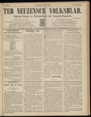 Ter Neuzensch Volksblad. Vrijzinnig nieuws- en advertentieblad voor Zeeuwsch- Vlaanderen / Zeeuwsch Nieuwsblad. Nieuws- en advertentieblad voor Zeeland 1913-07-09