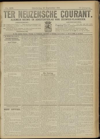 Ter Neuzensche Courant. Algemeen Nieuws- en Advertentieblad voor Zeeuwsch-Vlaanderen / Neuzensche Courant ... (idem) / (Algemeen) nieuws en advertentieblad voor Zeeuwsch-Vlaanderen 1915-09-23