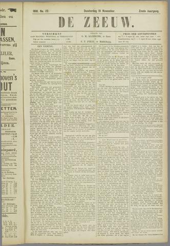 De Zeeuw. Christelijk-historisch nieuwsblad voor Zeeland 1891-11-19
