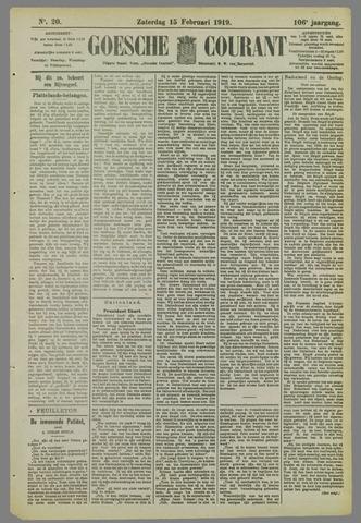 Goessche Courant 1919-02-15