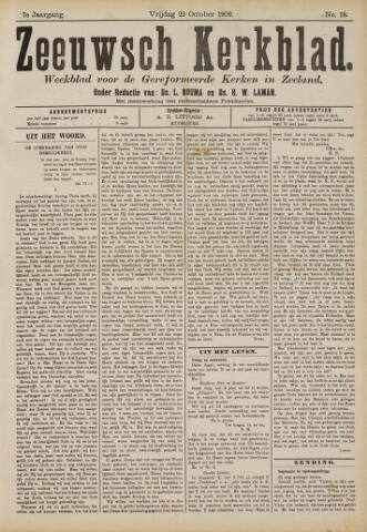 Zeeuwsche kerkbode, weekblad gewijd aan de belangen der gereformeerde kerken/ Zeeuwsch kerkblad 1909-10-22