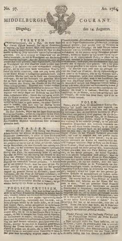 Middelburgsche Courant 1764-08-14