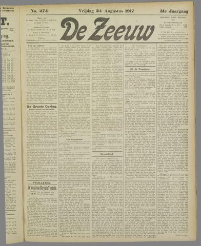 De Zeeuw. Christelijk-historisch nieuwsblad voor Zeeland 1917-08-24