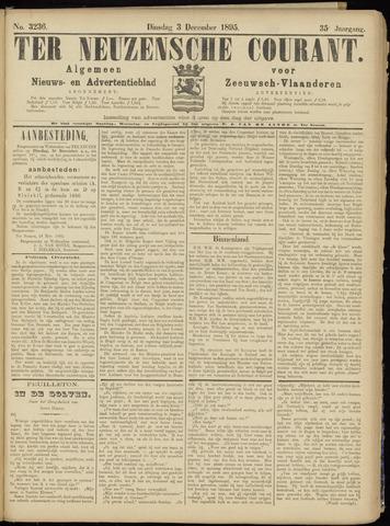Ter Neuzensche Courant. Algemeen Nieuws- en Advertentieblad voor Zeeuwsch-Vlaanderen / Neuzensche Courant ... (idem) / (Algemeen) nieuws en advertentieblad voor Zeeuwsch-Vlaanderen 1895-12-03