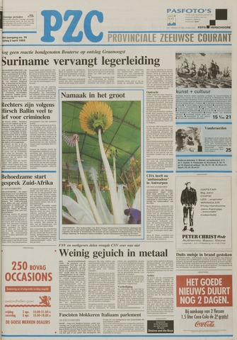 Provinciale Zeeuwse Courant 1993-04-02