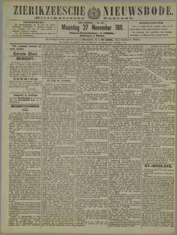 Zierikzeesche Nieuwsbode 1911-11-27